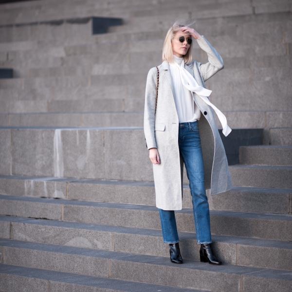 Grey Wool Coat Style Plaza 1