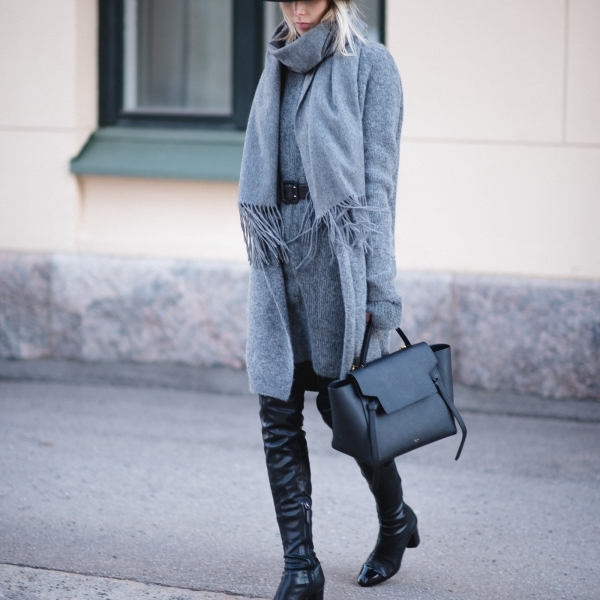 Grey Black Outfit Style Plaza 6