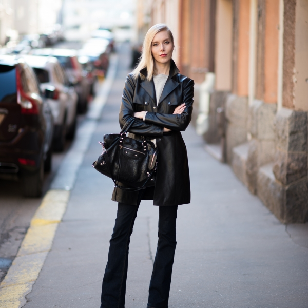 Style Plaza Leather Trench Outfit 21