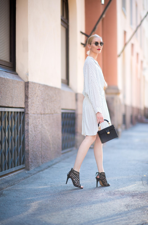 Style Plaza Polka Dot Dress1
