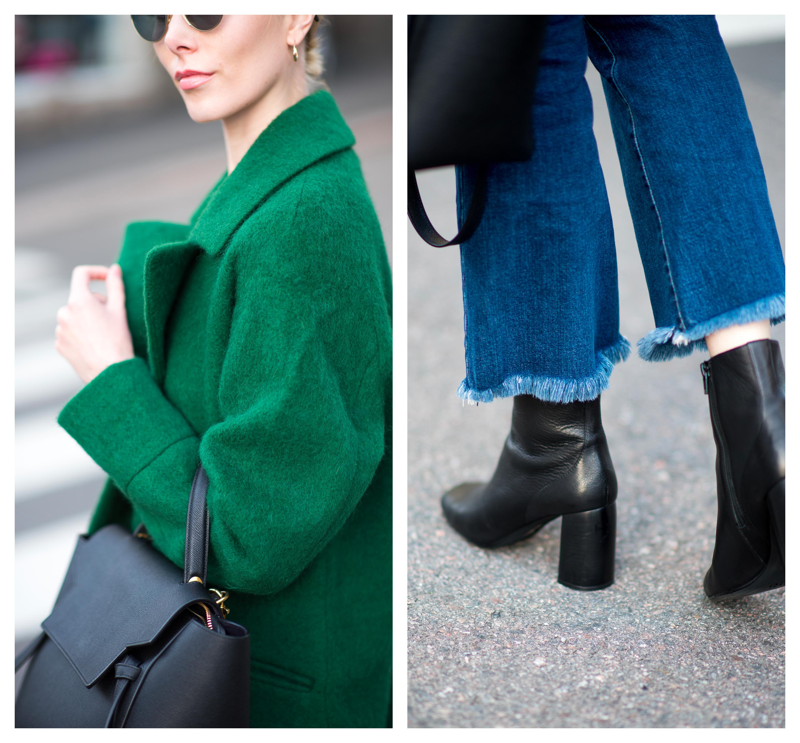 Style Plaza Nordic Blogger Green Fall Coat 1
