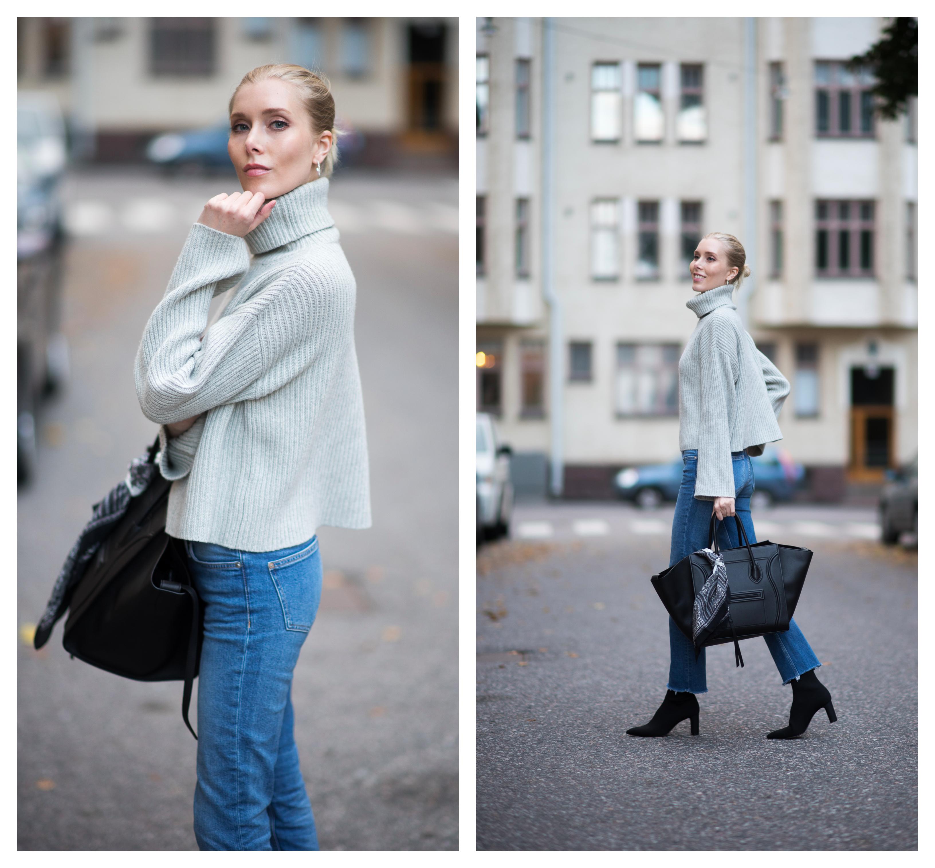 Style Plaza Nordic Blogger Grey Knit1