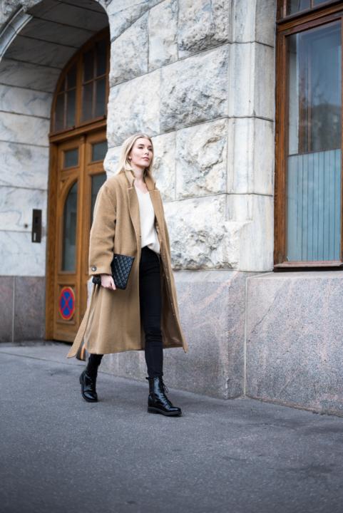 Style Plaza Nordic Blogger Camel Coat 12