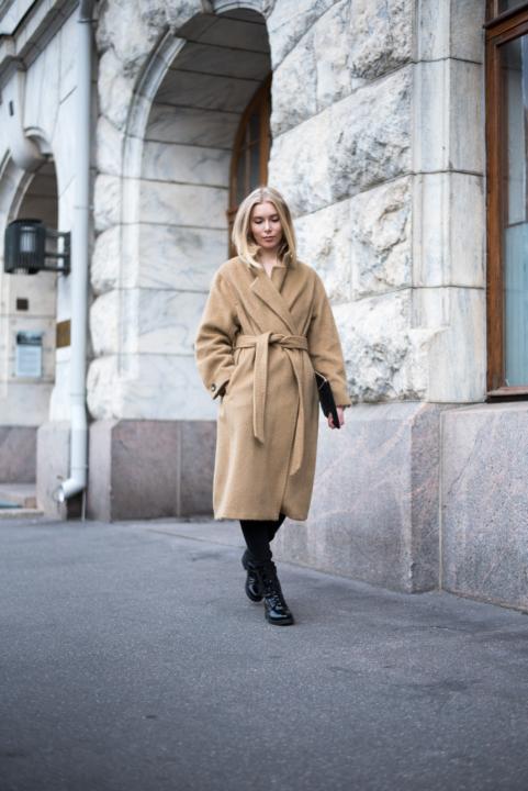 Style Plaza Nordic Blogger Camel Coat 19