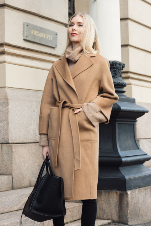 Shothecurated Camel Coat Style Plaza25
