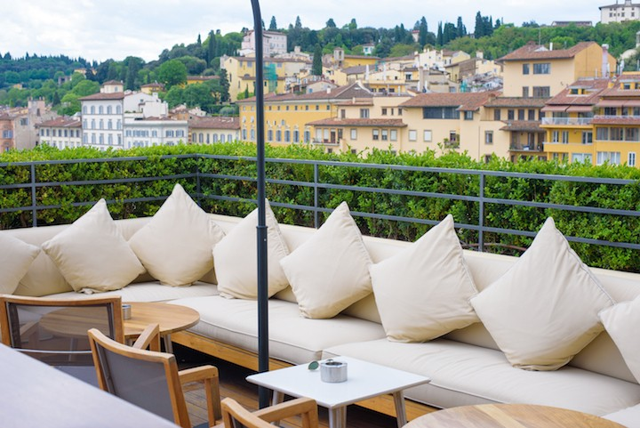 continentale hotel rooftop bar florence italy