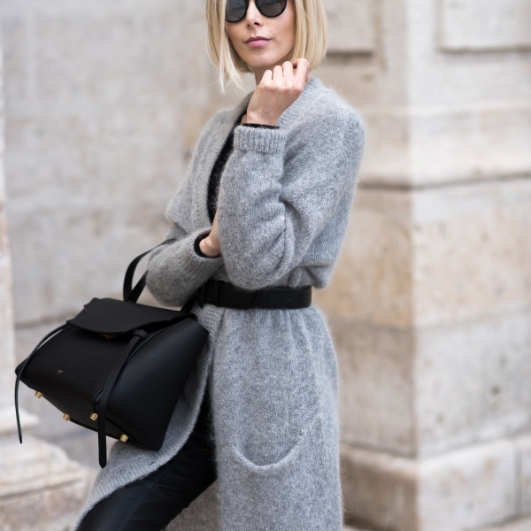 Cozy Grey Cardigan Outfit 9