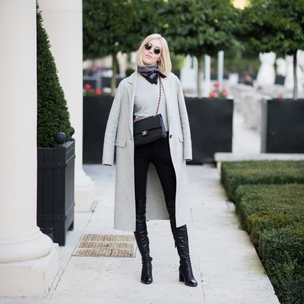 Long Grey Wool Coat 2
