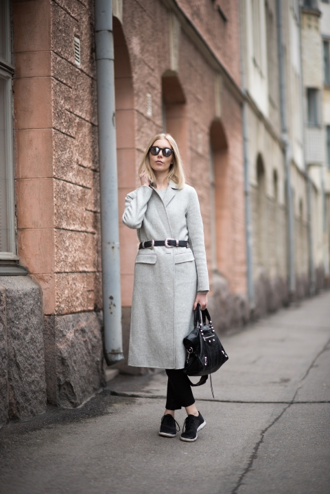 Grey Wool Coat 3