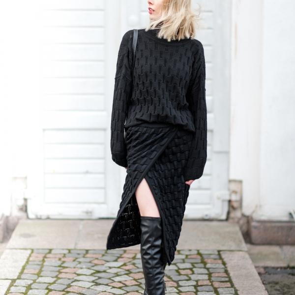Liisa Soolepp Knit Skirt Style Plaza 4