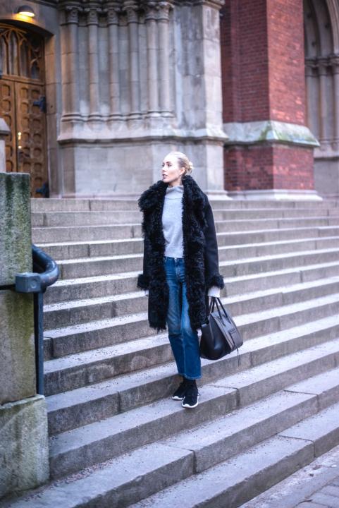 Style Plaza Lamb Fur Collar Coat 1 11