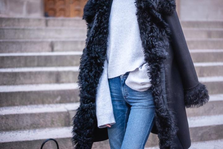 Style Plaza Lamb Fur Collar Coat 1 4