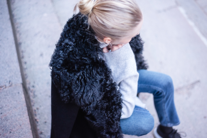 Style Plaza Lamb Fur Collar Coat 1 6