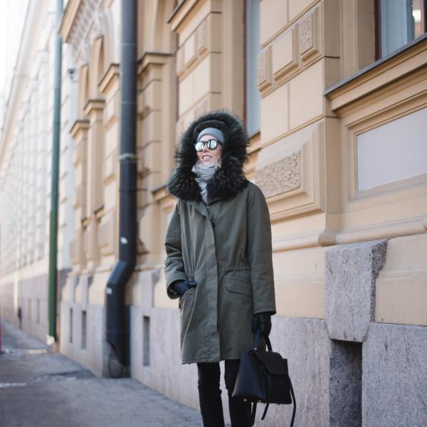 Style Plaza Yves Salomon Parka Coat Army 4 1