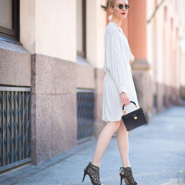 Style Plaza Polka Dot Dress1 1