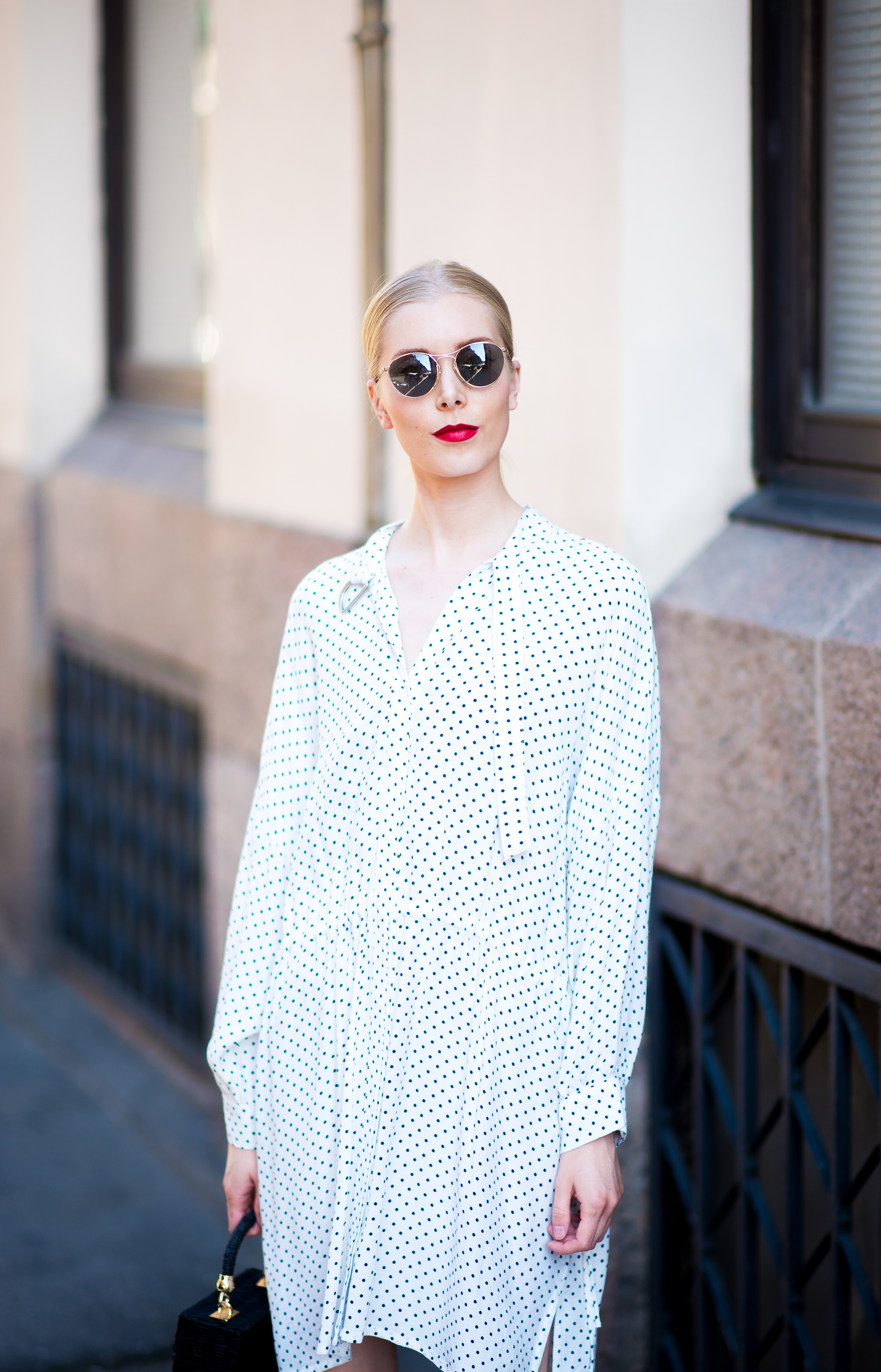 Style Plaza Polka Dot Dress13