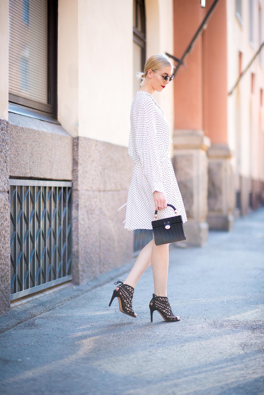 Style Plaza Polka Dot Dress3