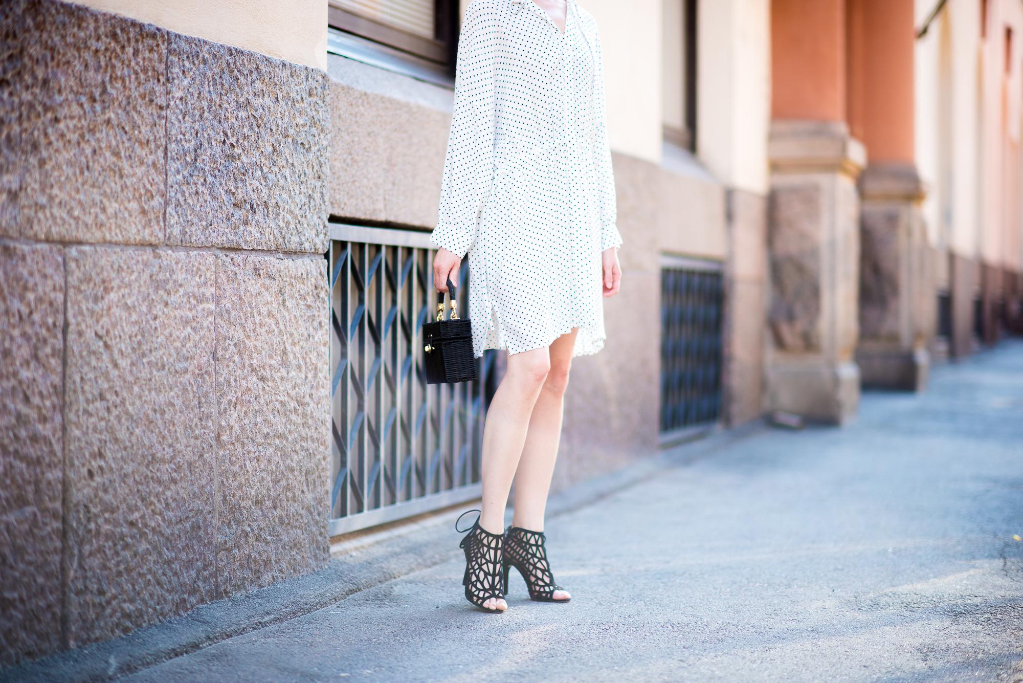 Style Plaza Polka Dot Dress4