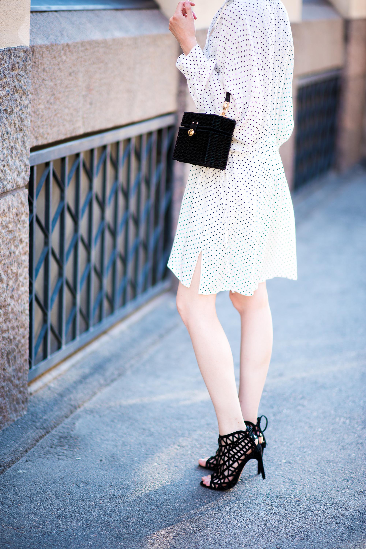 Style Plaza Polka Dot Dress5