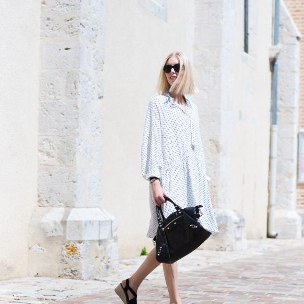 Style Plaza Polka Dot Dress9 1