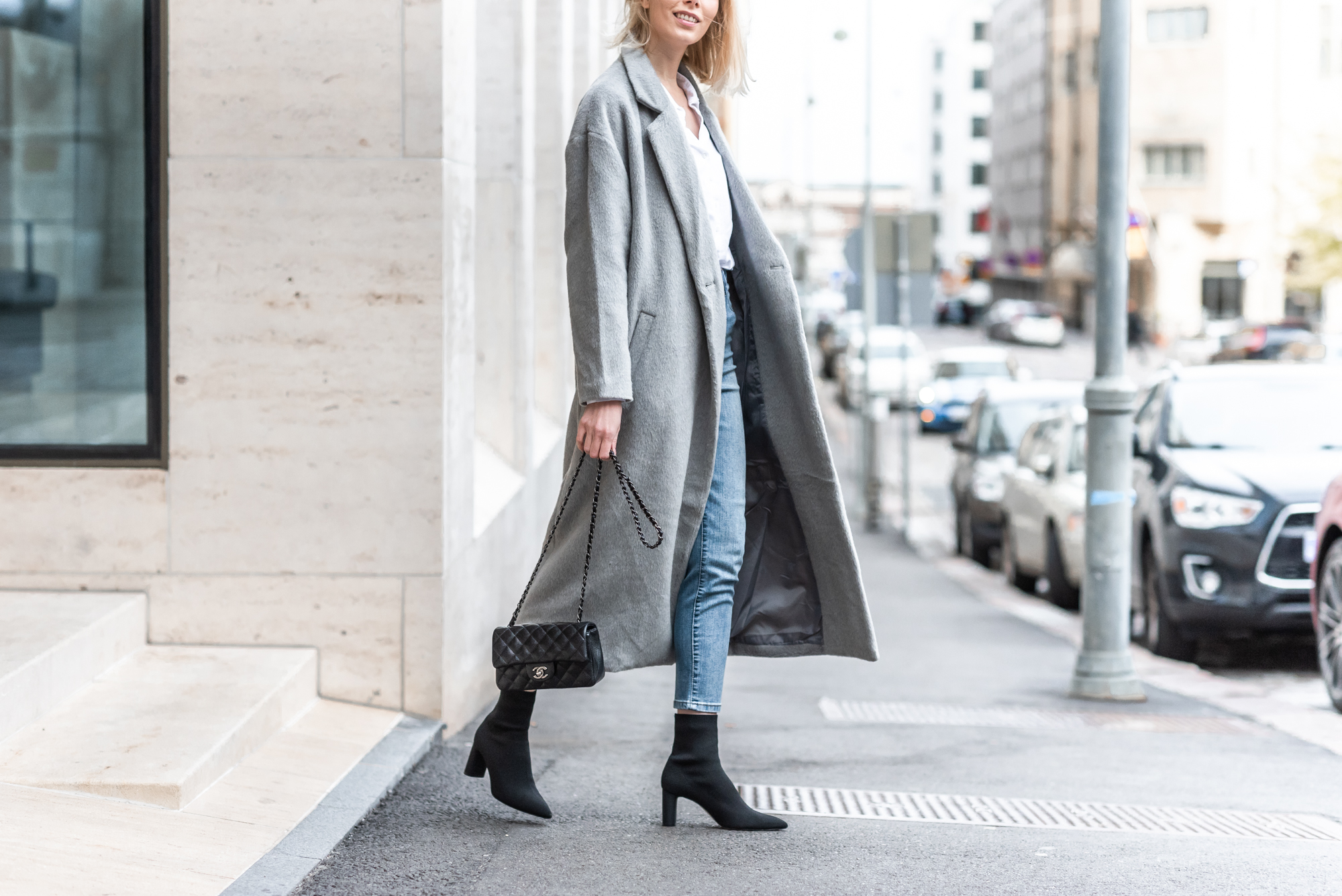 Anna Sofia Bubbleroom Grey Coat Fall 2018 Thomas Drouault 10