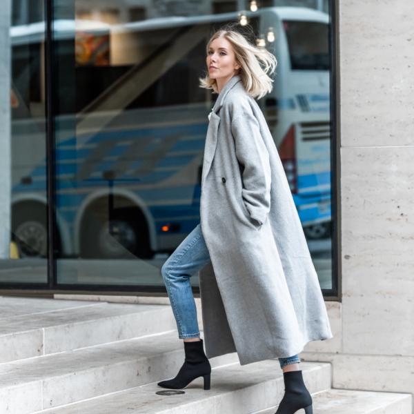 Anna Sofia Bubbleroom Grey Coat Fall 2018 Thomas Drouault 6