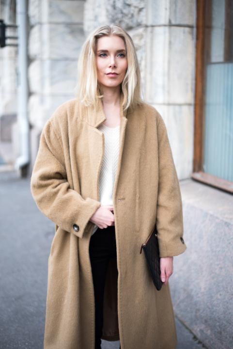 Style Plaza Nordic Blogger Camel Coat 9