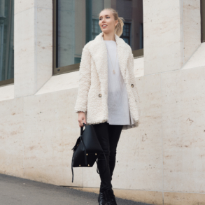Style Plaza White Coat Outfit