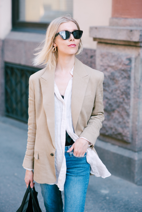 Style Plaza Linen Blazer12