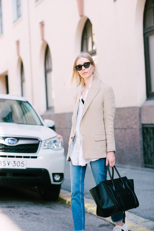 Style Plaza Linen Blazer3