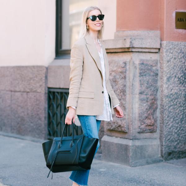 Style Plaza Linen Blazer6