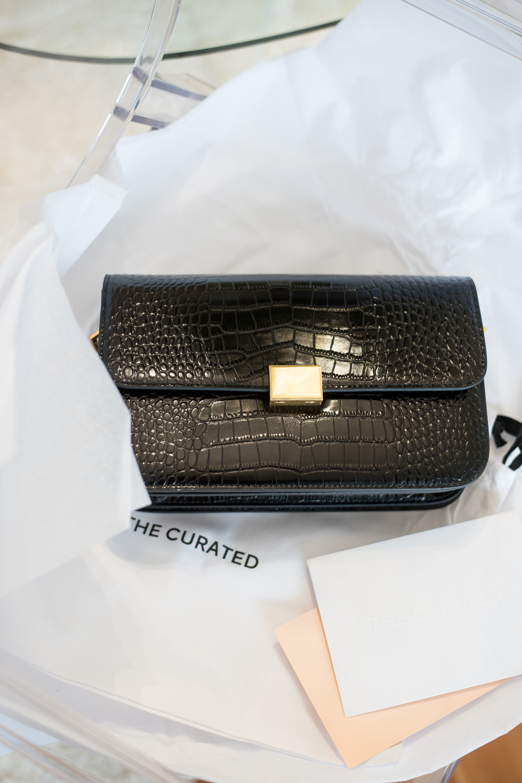 The Curated Classic Shoulder Bag Crocodile2